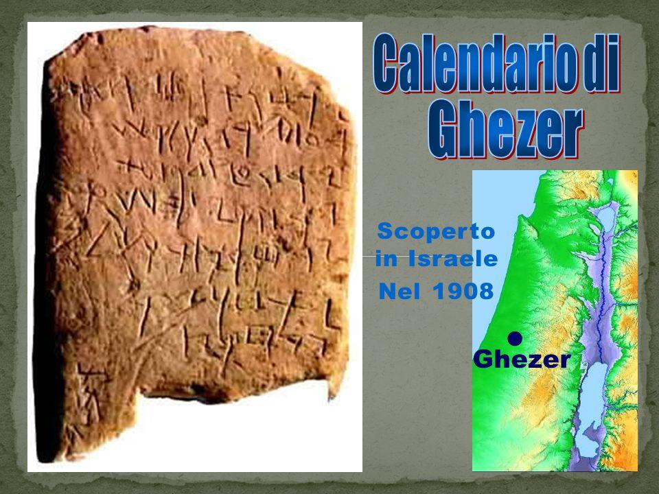 Scoperto in Israele Nel 1908 Ghezer