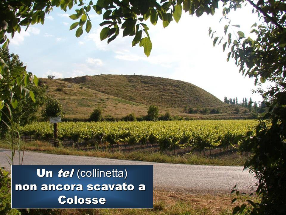 Un tel (collinetta) non ancora scavato a Colosse