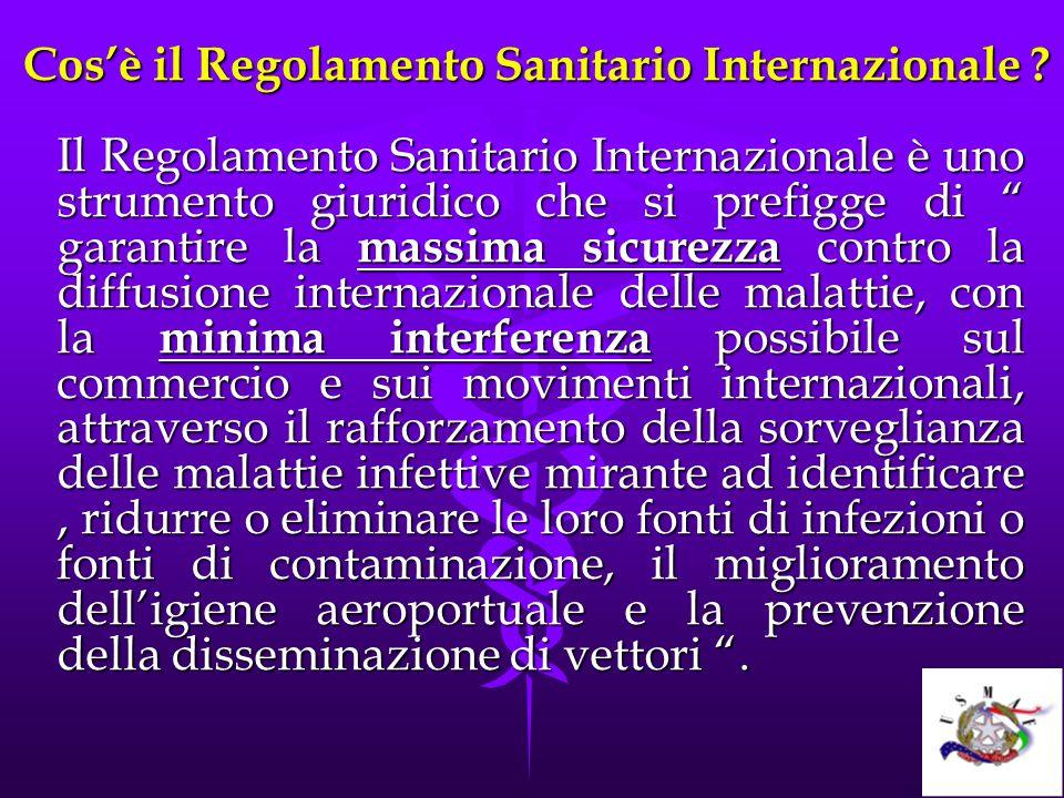 Cosè il Regolamento Sanitario Internazionale ? Cosè il Regolamento Sanitario Internazionale ? Il Regolamento Sanitario Internazionale è uno strumento