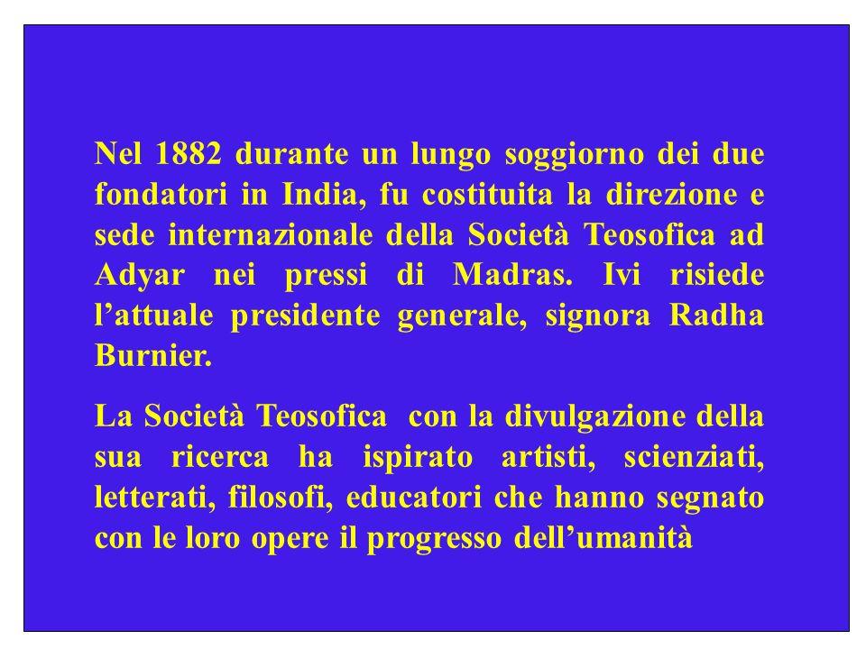 La Società Teosofica è una organizzazione internazionale asettaria e adogmatica, votata alla solidarietà umana, alla comprensione culturale, allauto-sviluppo della personalità.