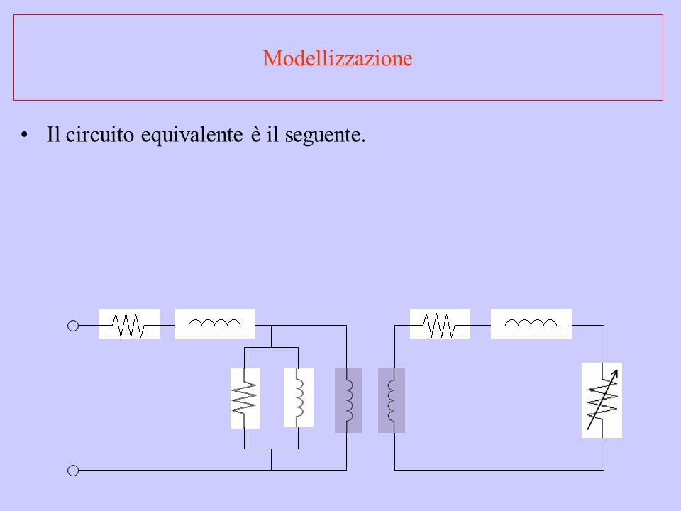 Modellizzazione Il circuito equivalente è il seguente.