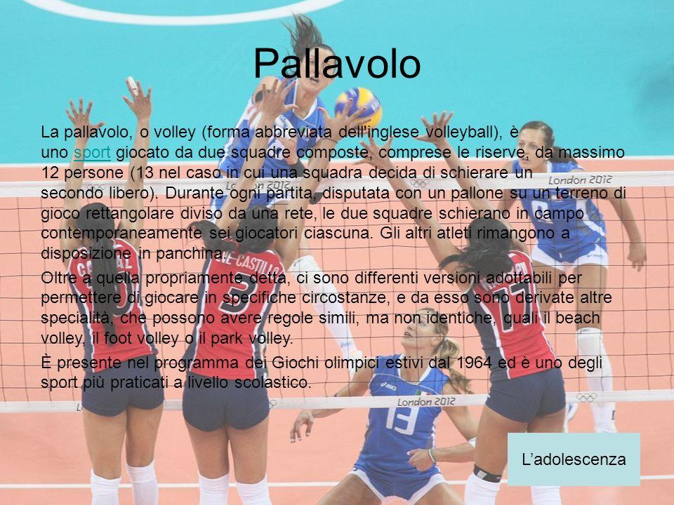Pallavolo La pallavolo, o volley (forma abbreviata dell'inglese volleyball), è uno sport giocato da due squadre composte, comprese le riserve, da mass