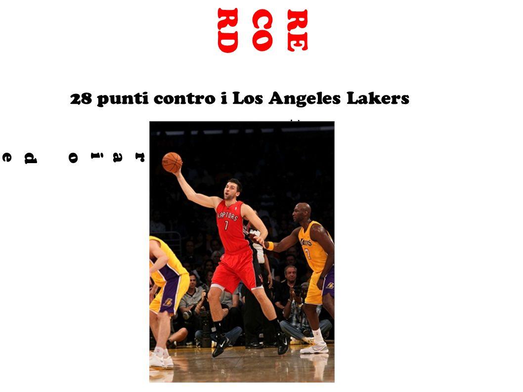 RE CO RD 1° febbraio del 2008:1° febbraio del 2008: 28 punti contro i Los Angeles Lakers