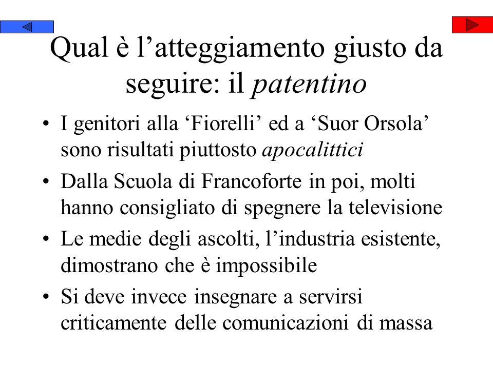 Qual è latteggiamento giusto da seguire: il patentino I genitori alla Fiorelli ed a Suor Orsola sono risultati piuttosto apocalittici Dalla Scuola di