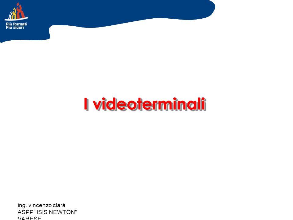 ing. vincenzo clarà ASPP ISIS NEWTON VARESE Utilizzo scorretto videoterminali videoterminali