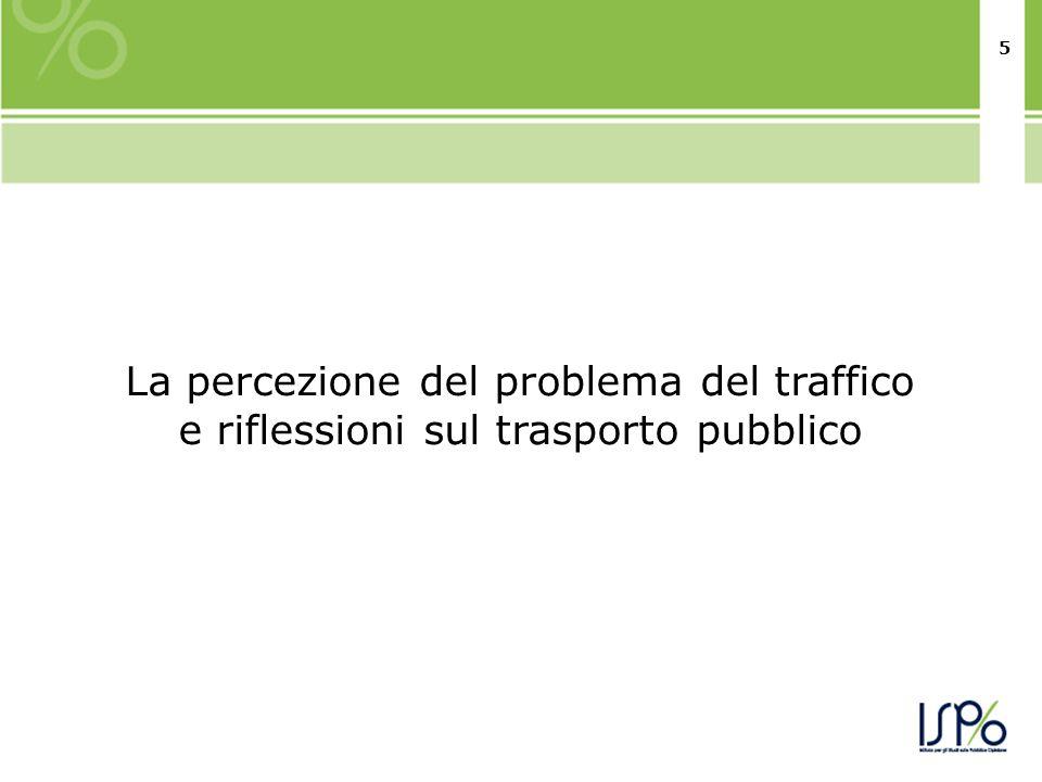 55 La percezione del problema del traffico e riflessioni sul trasporto pubblico