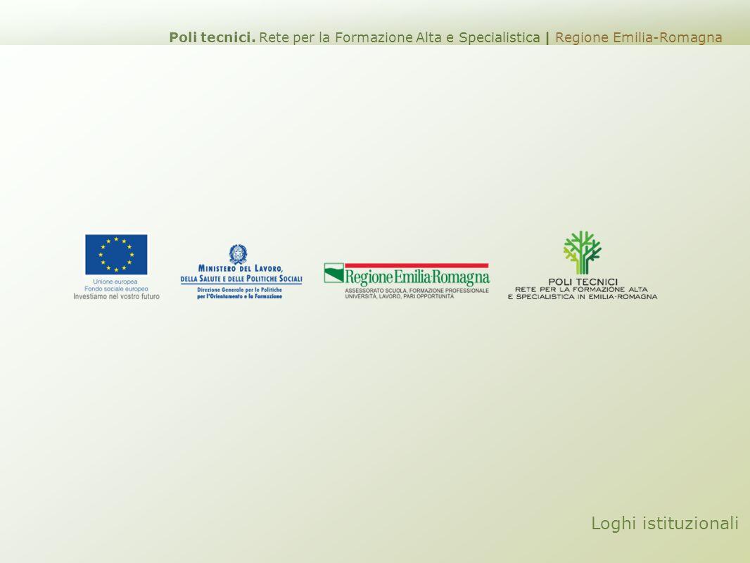 Loghi istituzionali Poli tecnici. Rete per la Formazione Alta e Specialistica | Regione Emilia-Romagna
