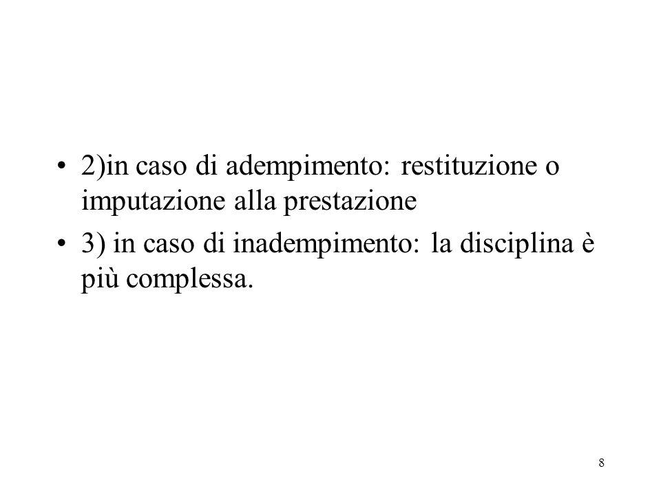 9 È prevista la facoltà di recesso ex art.1385, comma 2, c.c.