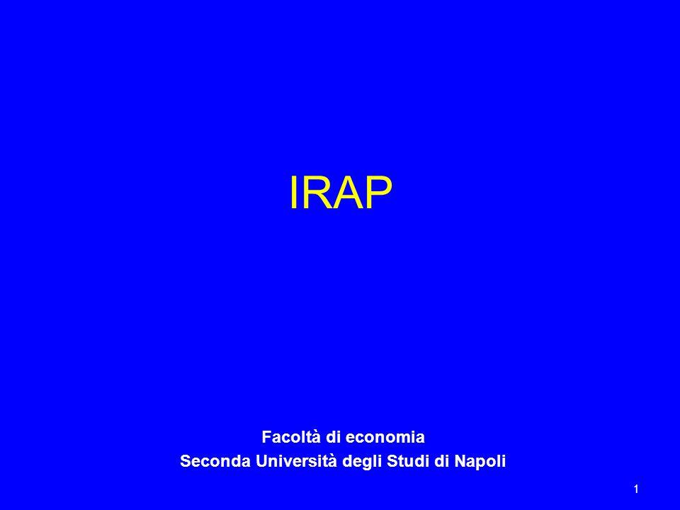 1 IRAP Facoltà di economia Seconda Università degli Studi di Napoli