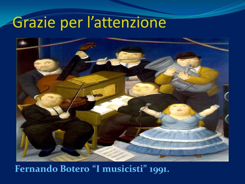 Grazie per lattenzione Fernando Botero I musicisti 1991.