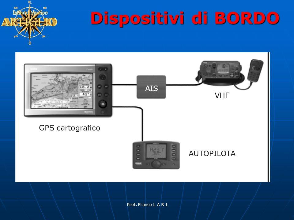 Prof. Franco L A R I Dispositivi di BORDO GPS cartografico AIS VHF AUTOPILOTA