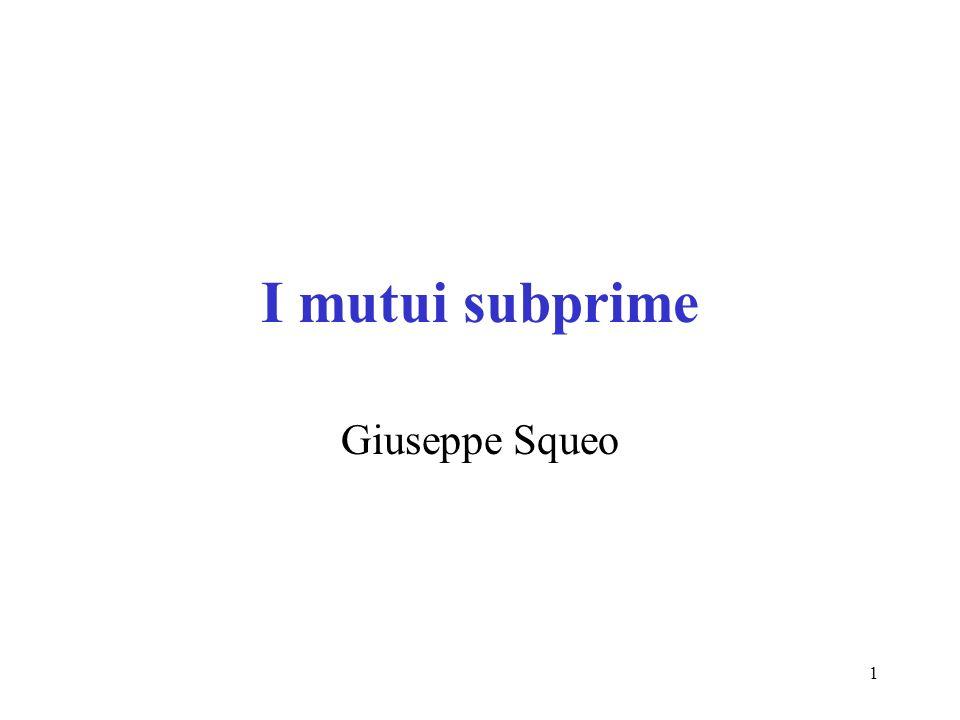 1 I mutui subprime Giuseppe Squeo