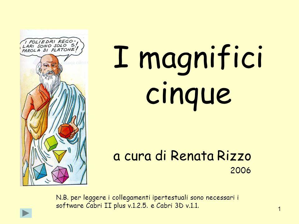 1 I magnifici cinque a cura di Renata Rizzo 2006 N.B. per leggere i collegamenti ipertestuali sono necessari i software Cabri II plus v.1.2.5. e Cabri