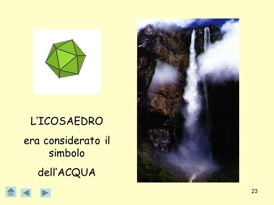 23 LICOSAEDRO era considerato il simbolo dellACQUA