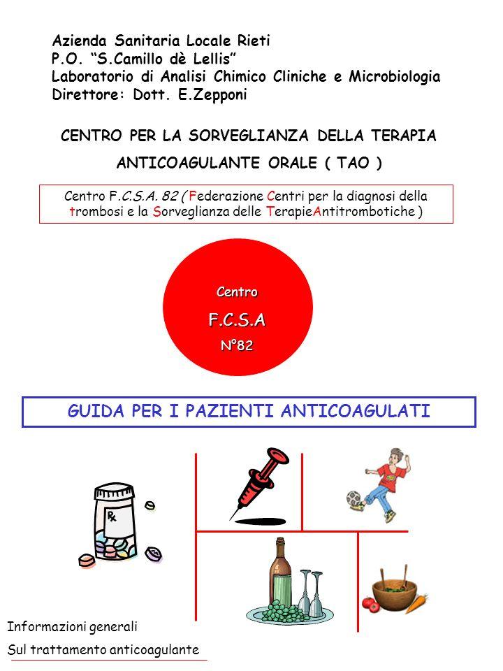 T.A.O.: Cosè il trattamento anticoagulante orale .
