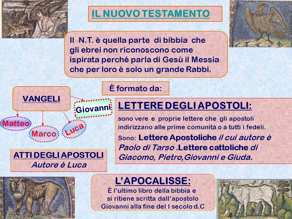 IL NUOVO TESTAMENTO Il N.T. è quella parte di bibbia che gli ebrei non riconoscono come ispirata perché parla di Gesù il Messia che per loro è solo un