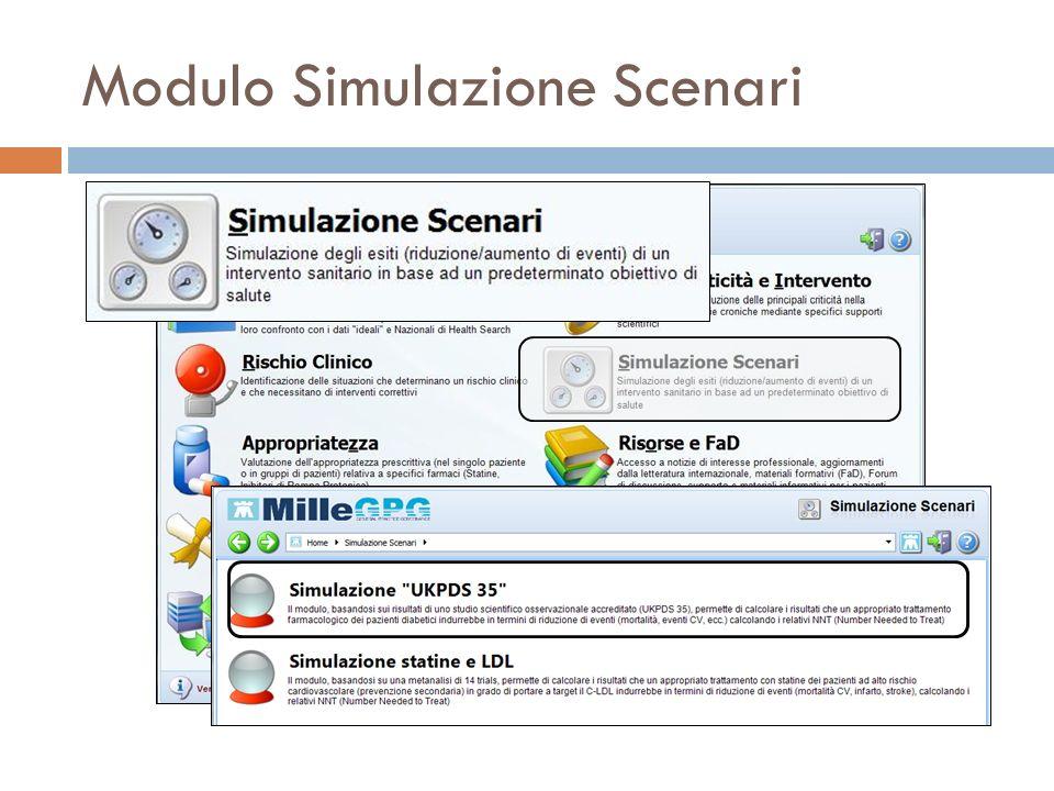 Modulo Simulazione Scenari