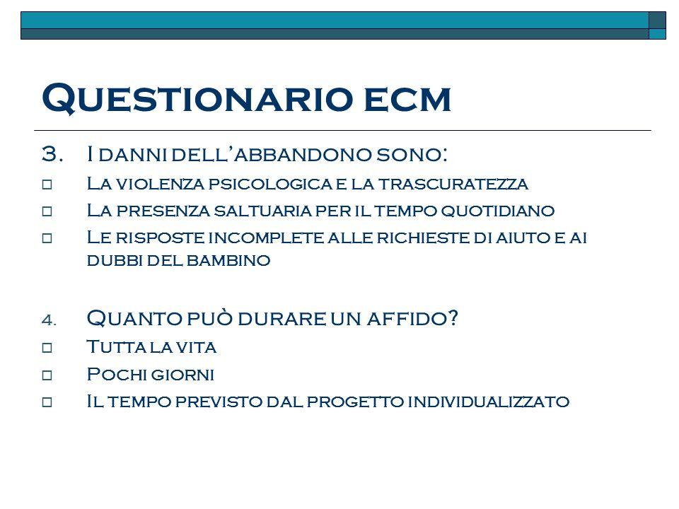 Questionario ecm 3.
