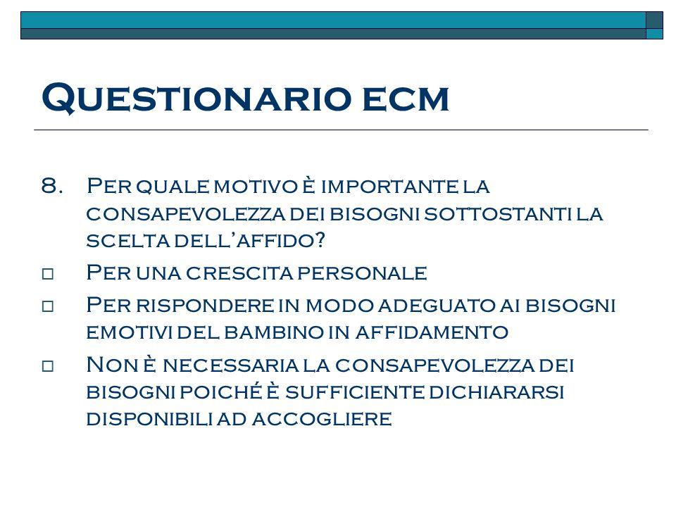 Questionario ecm 8.