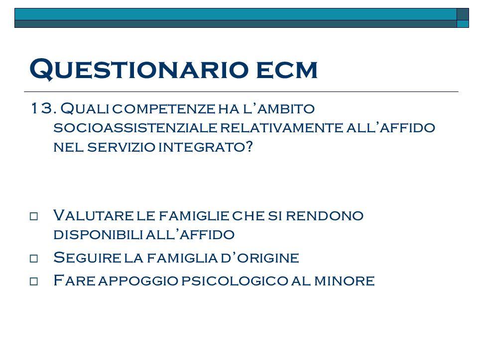 Questionario ecm 13.