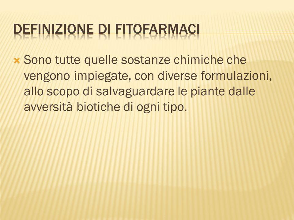 I Fitofarmaci si distinguono in 2 categorie principali: Gli ANTIPARASSITARI e gli ERBICIDI o DISERBANTI.