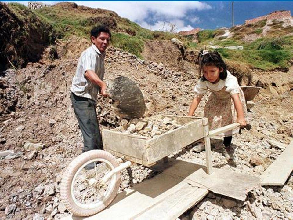 Nel mondo lavorano almeno 218 milioni di bambini di età compresa tra i 5 e i 17 anni.