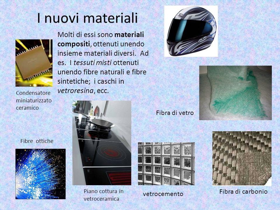 I nuovi materiali Condensatore miniaturizzato ceramico Piano cottura in vetroceramica Fibra di vetro Fibre ottiche vetrocemento Fibra di carbonio Molt