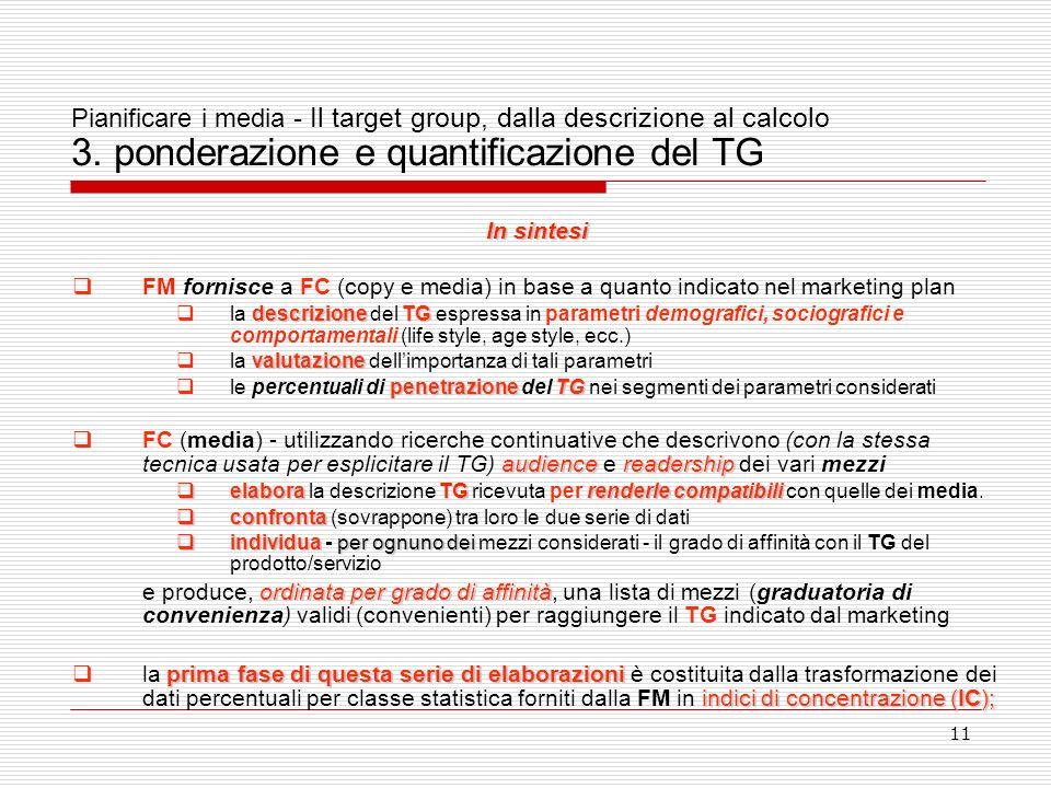 11 Pianificare i media - Il target group, dalla descrizione al calcolo 3.