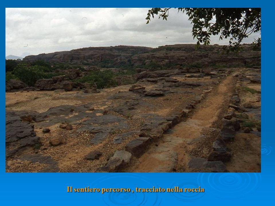 Il sentiero percorso, tracciato nella roccia