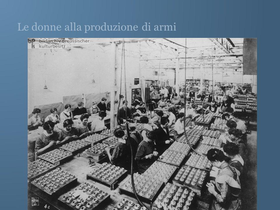 Le donne alla produzione di armi