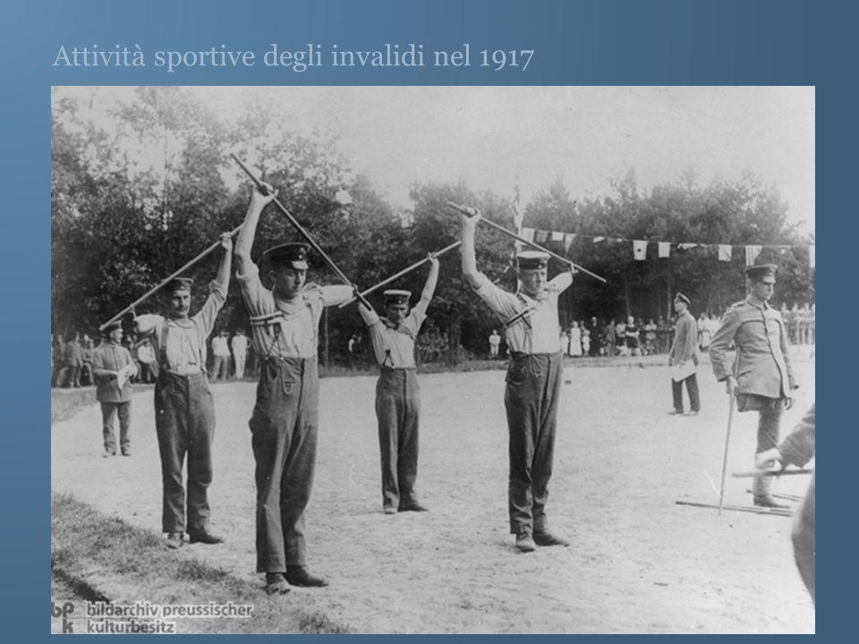 Attività sportive degli invalidi nel 1917