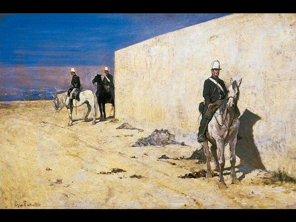 Giovanni Fattori Buoi al carro 1870 Olio su tela, cm. 40 x 104 Firenze, Galleria dArte Moderna