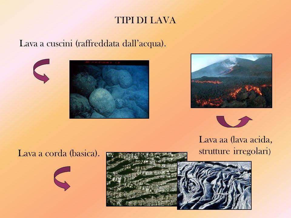 TIPI DI LAVA Lava a cuscini (raffreddata dallacqua).