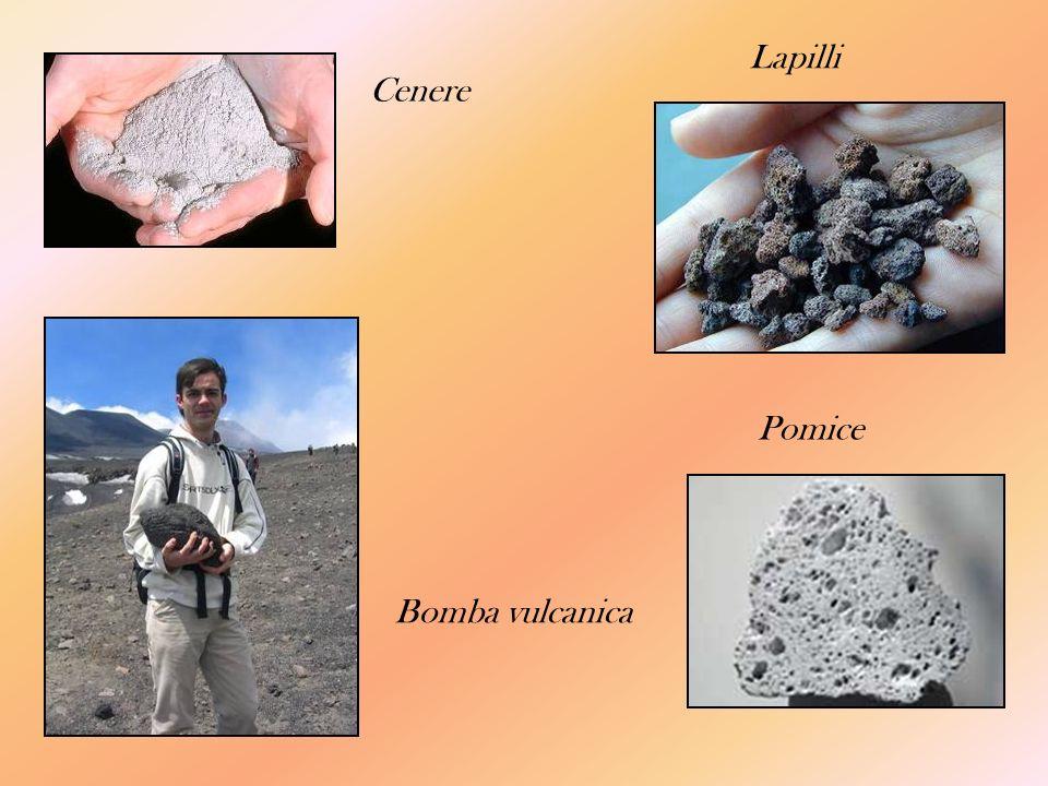 Cenere Lapilli Bomba vulcanica Pomice