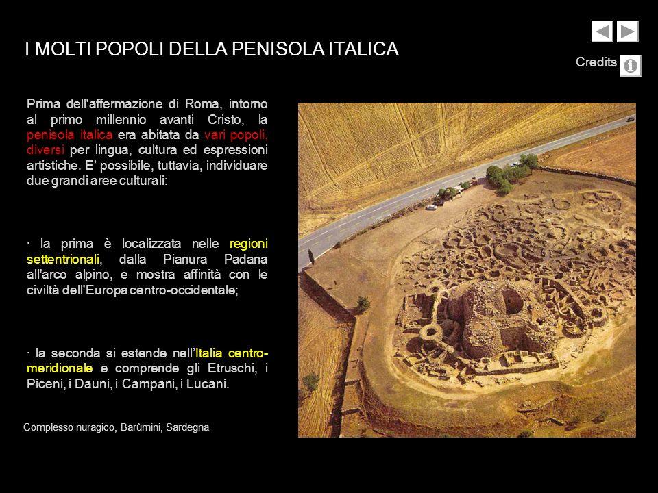 Qui sono evidenti i contatti con le civiltà mediterranee, dal Vll secolo a.C., con i Greci stanziati nella Magna Grecia.