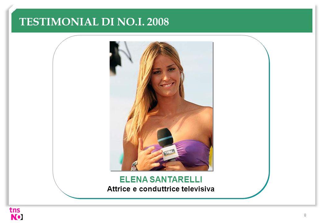 8 TESTIMONIAL DI NO.I. 2008 ELENA SANTARELLI Attrice e conduttrice televisiva
