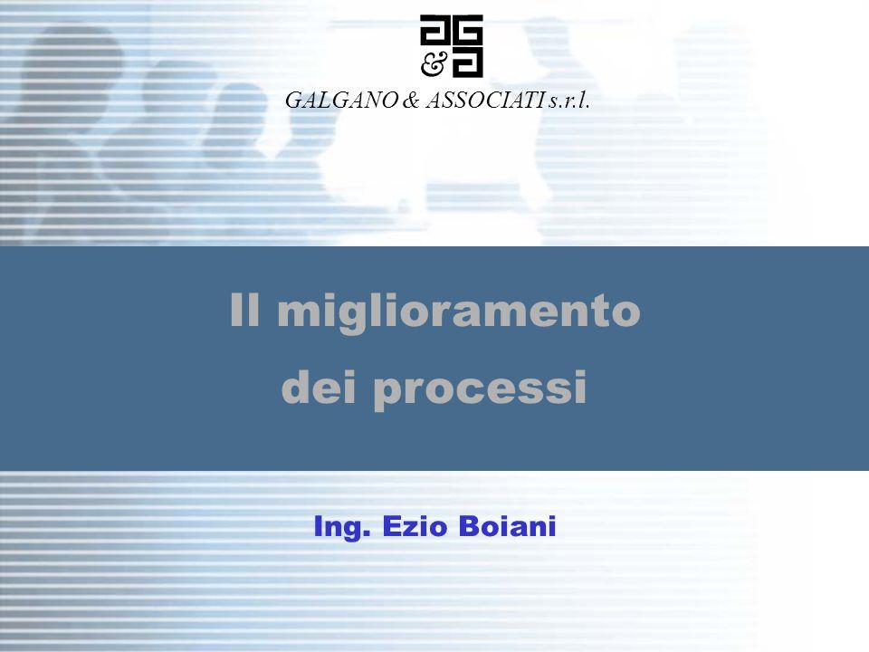 1 / 33 Galgano & Associati s.r.l. Il miglioramento dei processi GALGANO & ASSOCIATI s.r.l. Ing. Ezio Boiani
