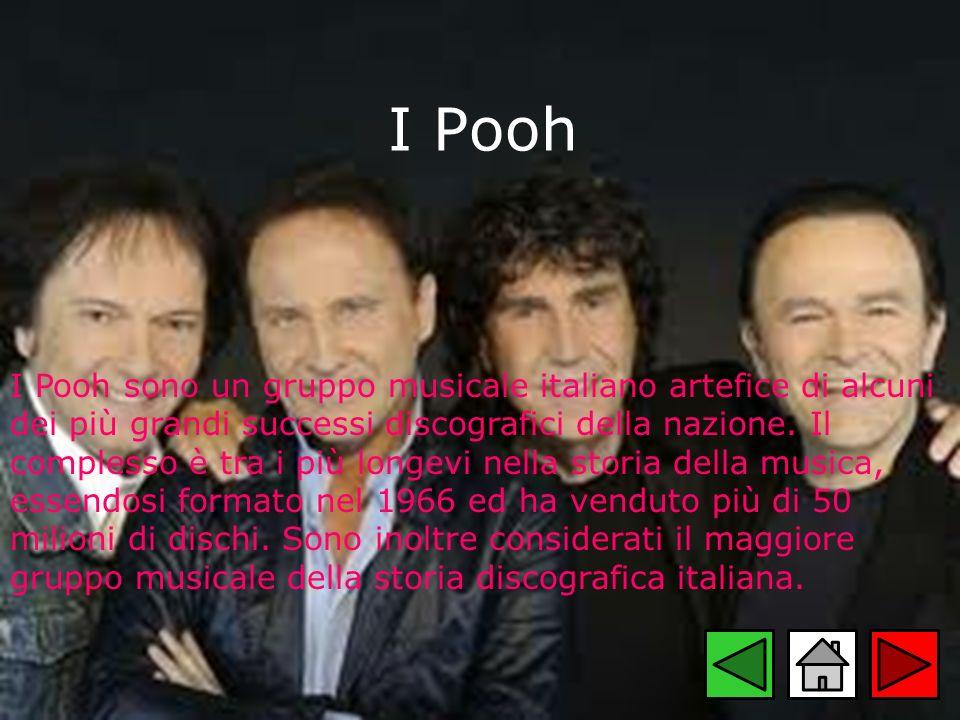 I Pooh I Pooh sono un gruppo musicale italiano artefice di alcuni dei più grandi successi discografici della nazione. Il complesso è tra i più longevi