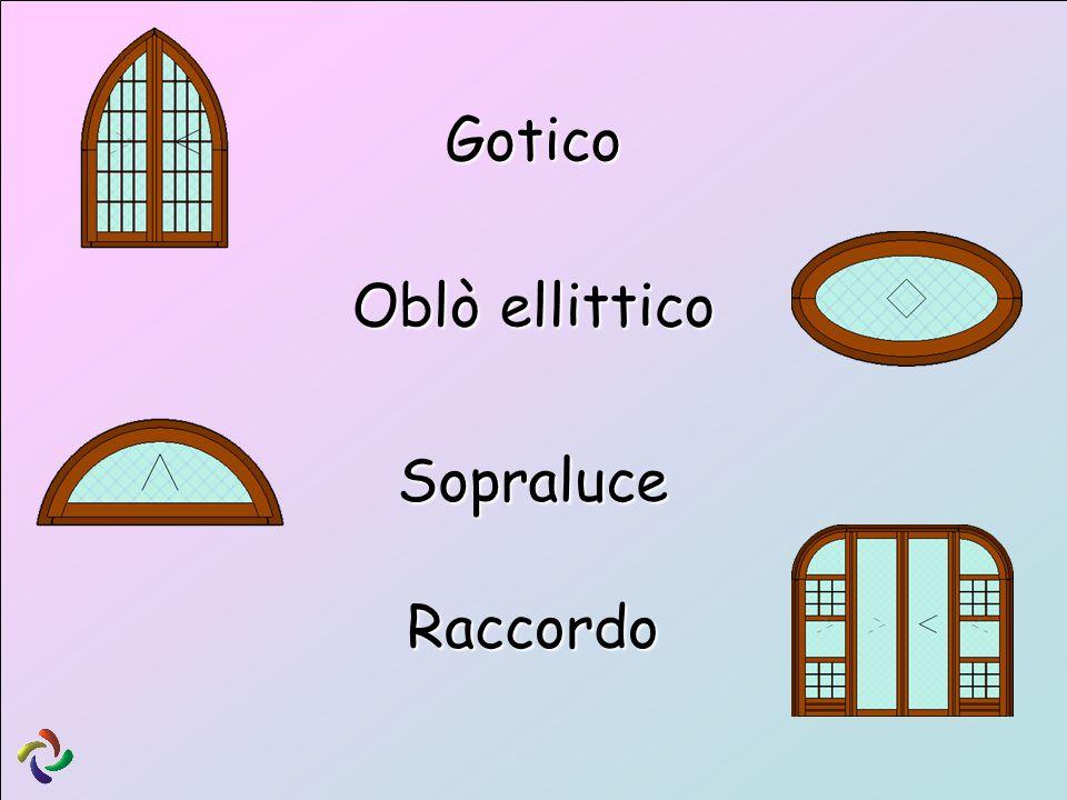 Sopraluce Gotico Oblò ellittico Raccordo