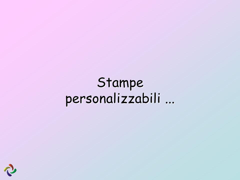 Stampe personalizzabili...