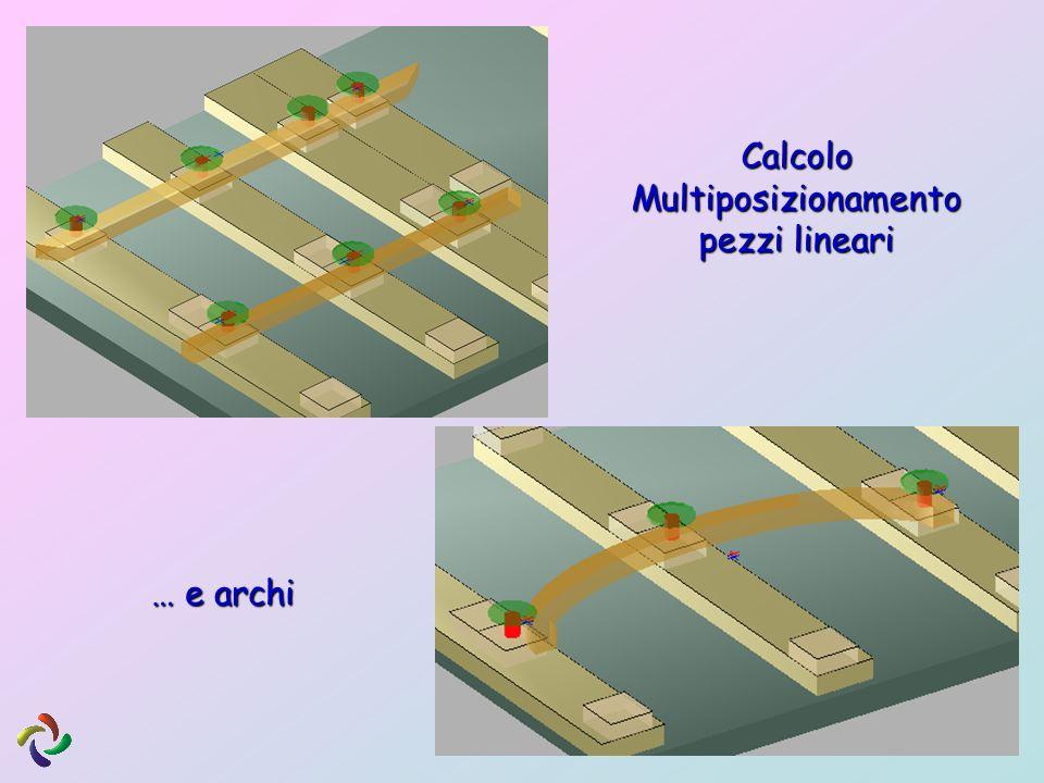 Calcolo Multiposizionamento pezzi lineari … e archi