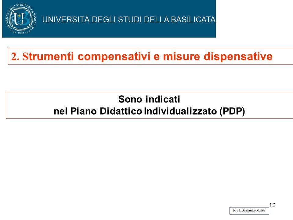 12 Sono indicati nel Piano Didattico Individualizzato (PDP) 2.