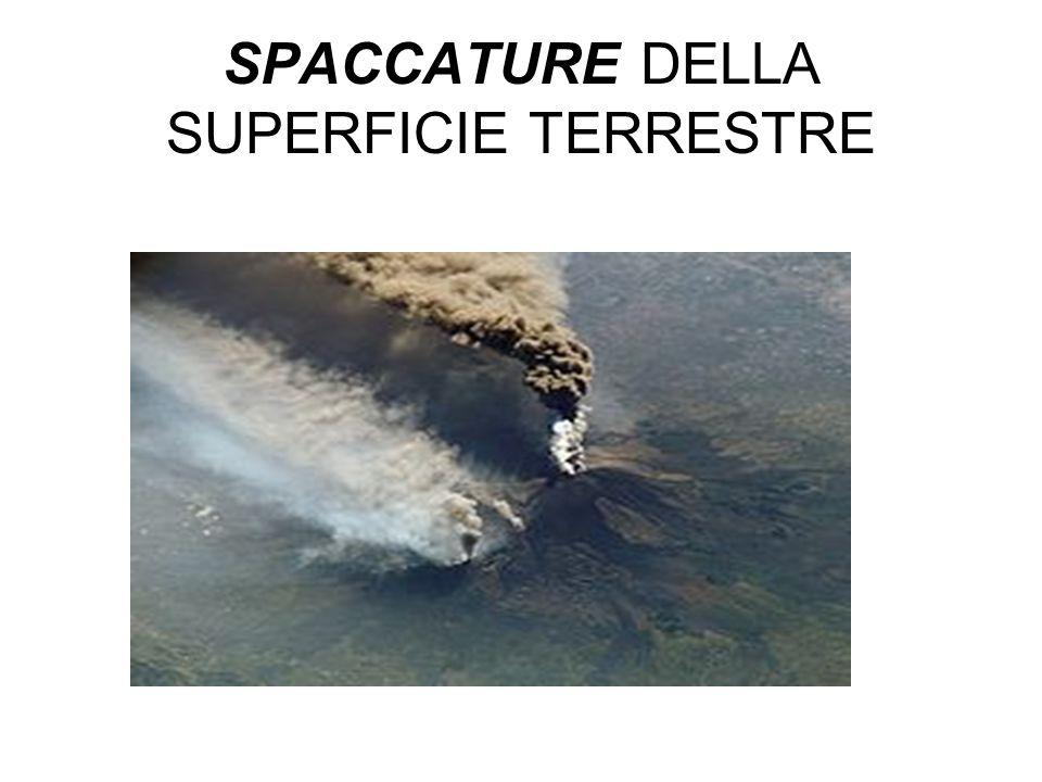 SPACCATURE SPACCATURE DELLA SUPERFICIE TERRESTRE