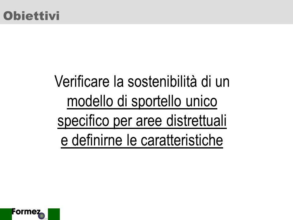 21 Le associazioni di Sportello Unico nella maggioranza dei casi non rispondono ad una rigoroso obiettivo di tipo distrettuale, con alcuni distinguo.