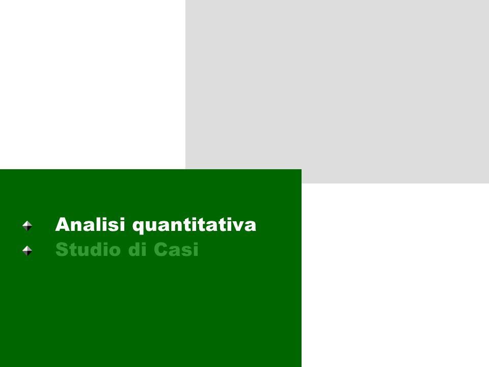 2 Livelli dellanalisi Lanalisi ha previsto due livelli di attività: Una analisi quantitativa: una prima ricognizione dello stato dellarte (al 2001) de