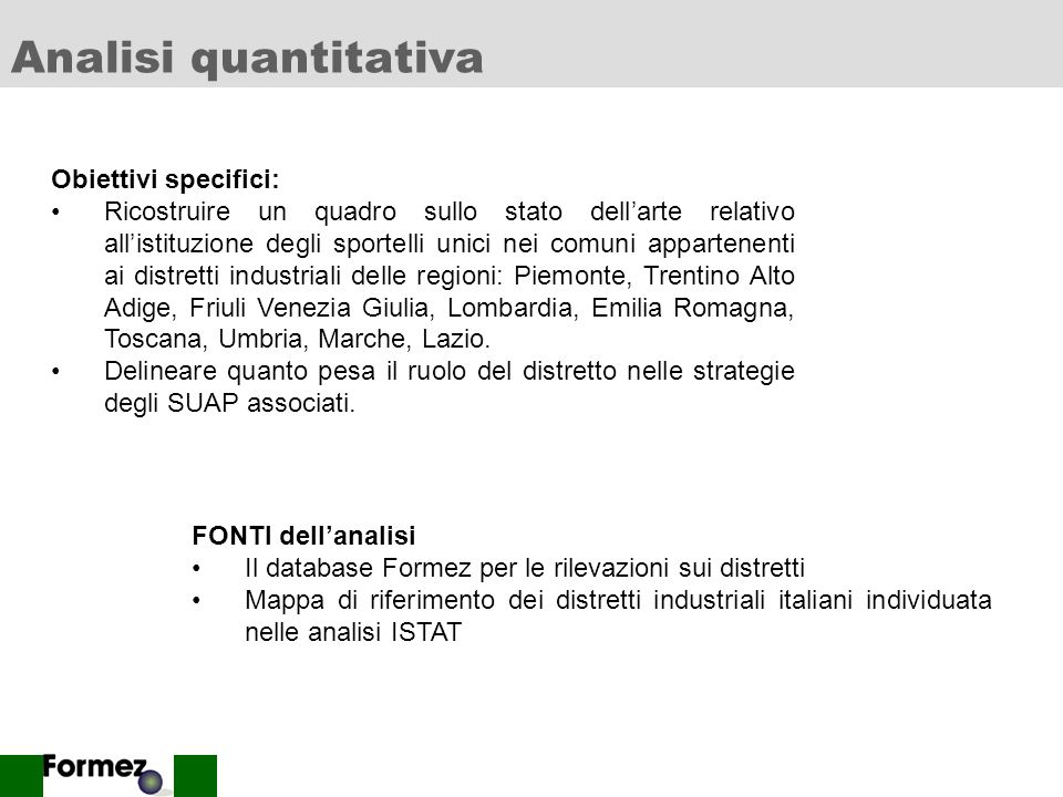 Analisi quantitativa Studio di Casi