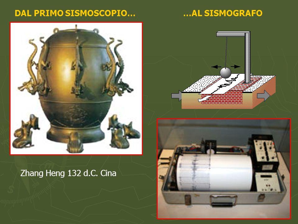 DAL PRIMO SISMOSCOPIO… Zhang Heng 132 d.C. Cina …AL SISMOGRAFO