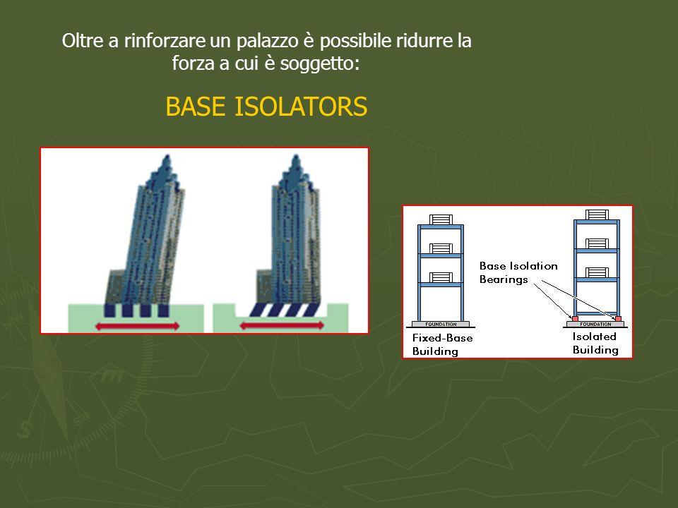 Oltre a rinforzare un palazzo è possibile ridurre la forza a cui è soggetto: BASE ISOLATORS