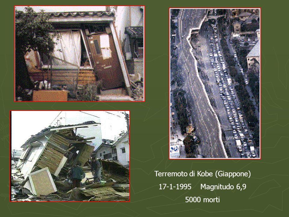 Terremoto di Kobe (Giappone) 17-1-1995 Magnitudo 6,9 5000 morti