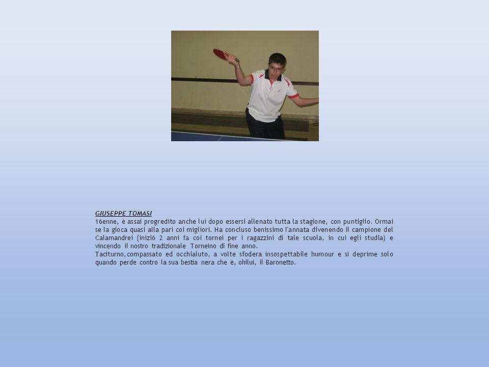 GIUSEPPE TOMASI 16enne, è assai progredito anche lui dopo essersi allenato tutta la stagione, con puntiglio. Ormai se la gioca quasi alla pari coi mig